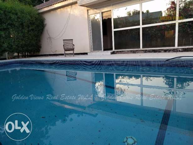 4 Bedroom semi furnished villa for rent with private pool,garden