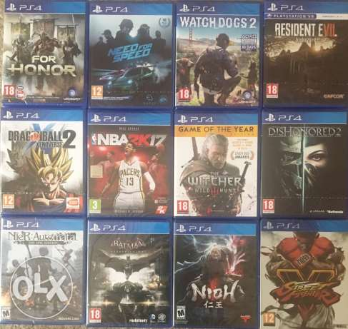 New Sealed ps4 games with free delivery