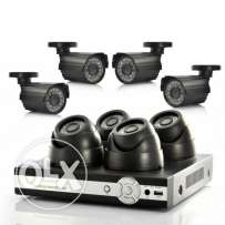 8 camera cctv hd with fixing