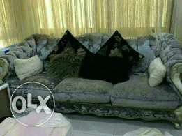 Luxurious velvet sofa for sale