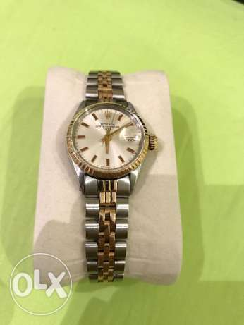 Ladies vintage rolex datejust steel and rose gold watch