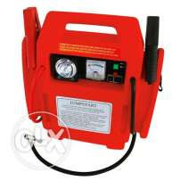 Carpoint battery charger with air compressior