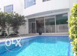 Loverly modern semi furnished villa with private pool,garden