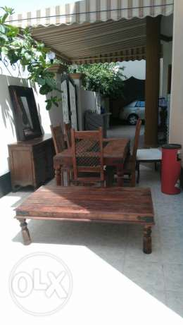 Antique Home furnitur for sale . Dining table and dresses with side ta