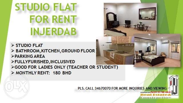 Studio flat for rent in Jerdab