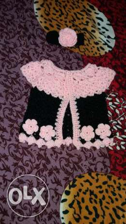 New born baby girl crochet cardigan set