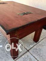 Rustic Brownish-Red Solid Wood Center Table