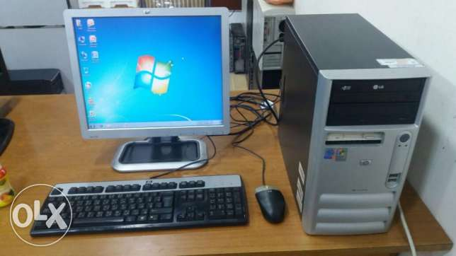 COMPUTER FULL SET PC / LCD MONITOR /keyboard and mouse / dvd ram