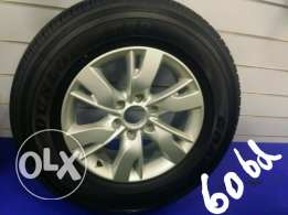 Nissan patrol alloy wheel with tyre