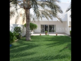 Modern 4 BR semi furnished villa with garden,pool - all inclusive