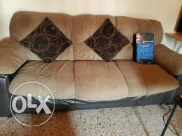 Soft sofa with 3 cushions