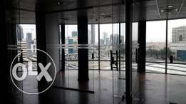 Appx 145m2 office space Seef with 8 glass partitions BD. 720/Month