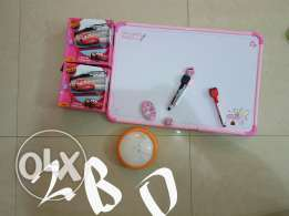 White board with battery lamp and 2 puzzles