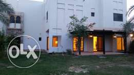 semi furnished villa with huge garden close to KSA