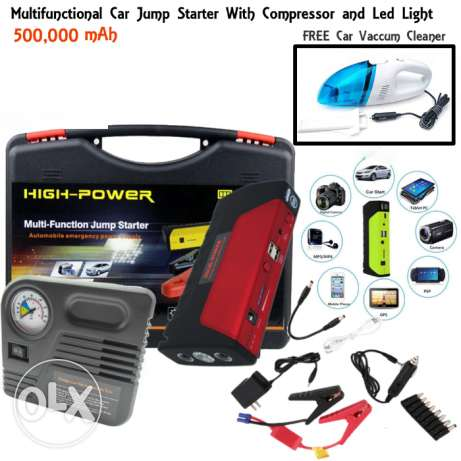 Car Jump Starter Kit with Free Car Vacuum Cleaner