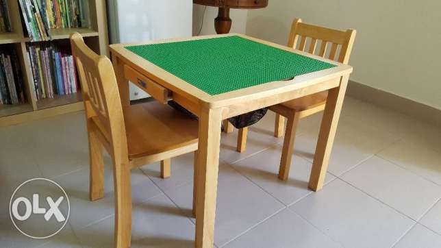 Lego Table with 2-chair