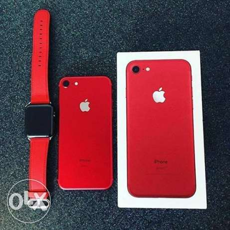 Now in Red iPhone 7 128GB With iWatch
