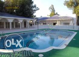 4 Bedroom semi furnished villa with garden and pool,play area