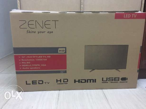 zenet 32 inch tv for sale 5 mnth old with warranty ,jidhafs 35 bd