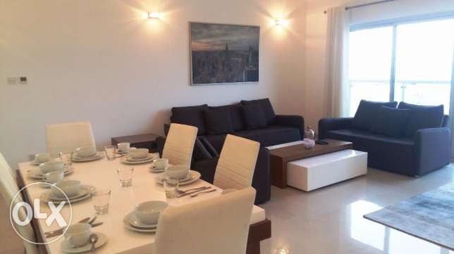 2 Bedrooms apartment modern furniture fully furnished open Sea views