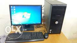 """DELL COMPUTER FULL SET with 19"""" LCD MONITOR/keyboard,mouse and DVD"""