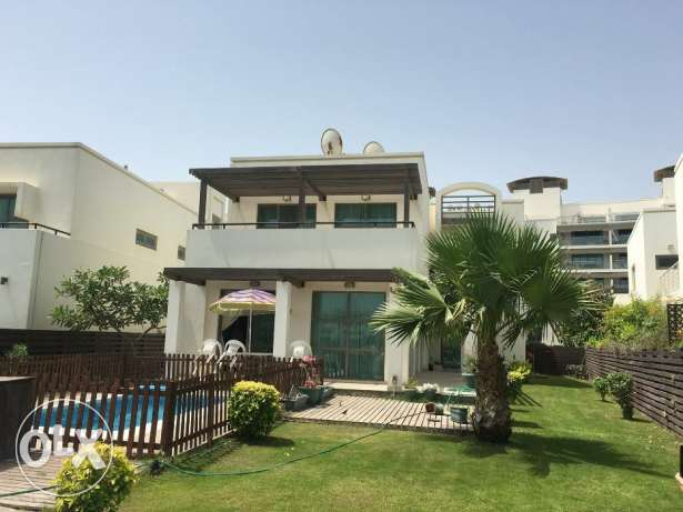 Amazing large 5 bedrooms villa semi furnished with private pool&beach