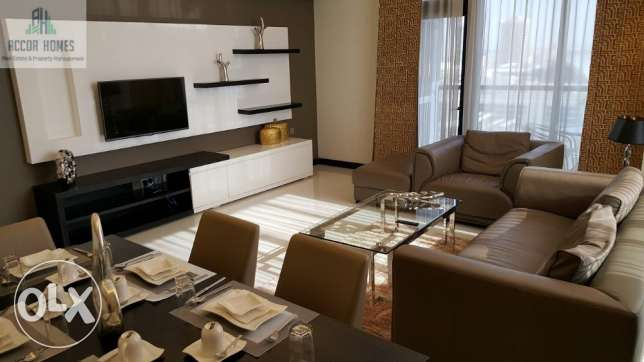 Modern, fully furnished 2 BHK flat for rent in Seef at BD 850/month
