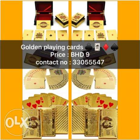 24K Golden playing cards
