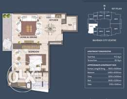 1 Bedroom flat for sale in Seef - Will be ready by April 2018.
