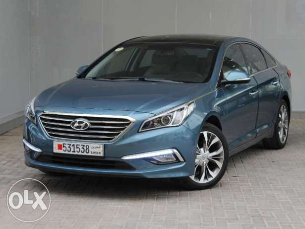 Hyundai Sonata With Panoramic Sunroof 2015 Blue For Sale