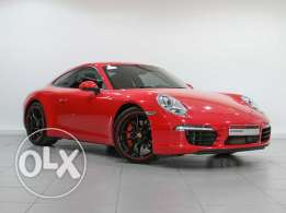 Red Porsche Approved 911 Carrera S 2012MY