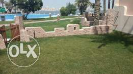 Sea view 3 BR flat in Tubli with Garden