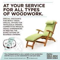 At your service for all types of wood work
