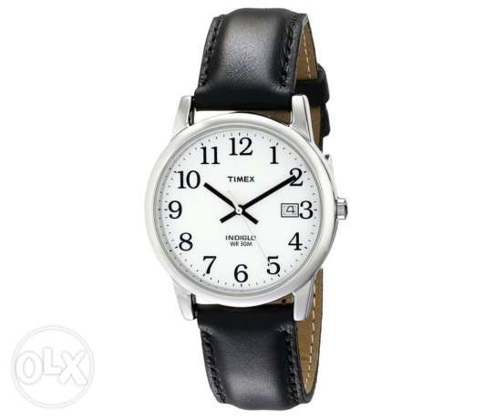 Timex easy reader leather watch