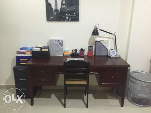 Wooden Study Table/ Office Desk + FREE LAMP