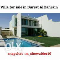 For sale villa in Durrat Al Bahrain overlooking the sea