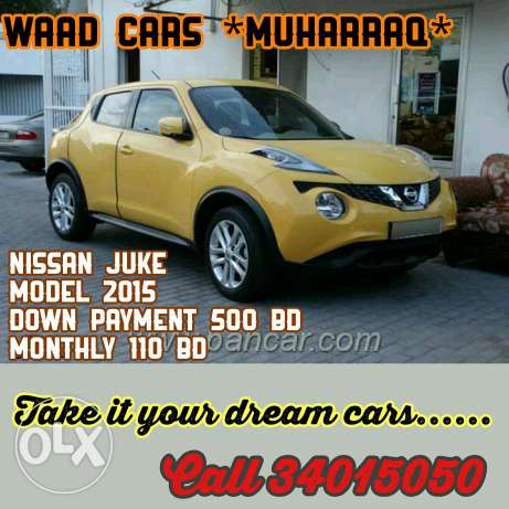 Nissan juke 2015 model for sale. For installment also