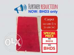 Further discount on carpet