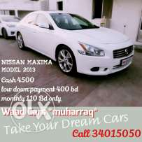 Nissan maxima 2013 model for sale .installment available
