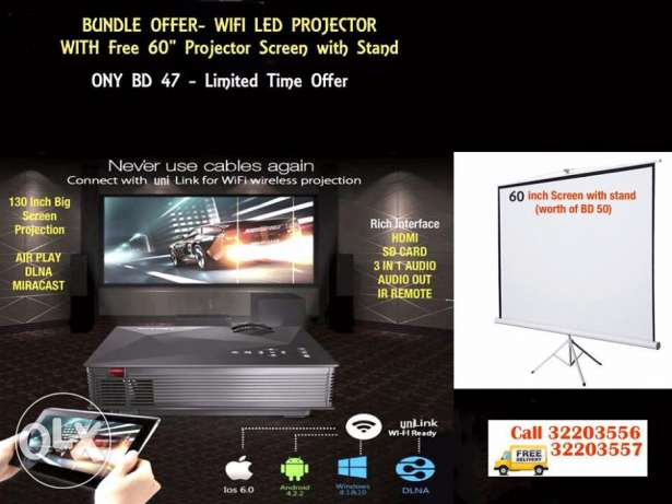 :wif i led projector led projector wifi / miracast / dlna compatibile