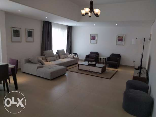 Brand new fully furnished 2 BR flat with big balcony - rent inclusive