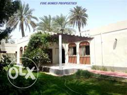 SRA10 3br semi furnished villa with full greenery close to alosra