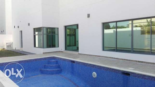 modern semi furnished villa with private pool