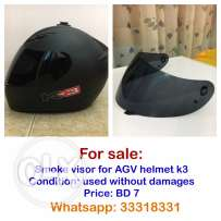 Smoke visor for AGV helmet