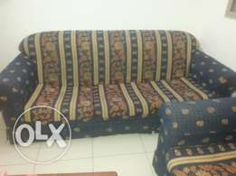 sofa set + queen bed