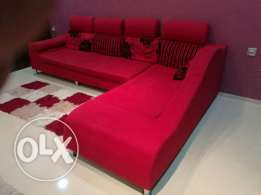 L shape sofa good condition B.D 55