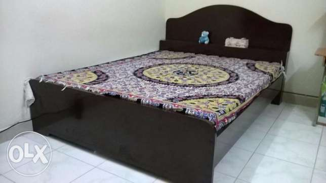 Queen size bed with mattress for sale