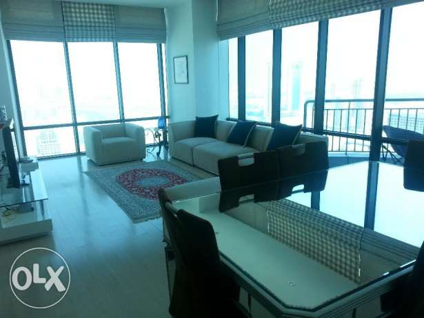 3 Bedrooms apartment modern furniture full glass wall open Sea view (S