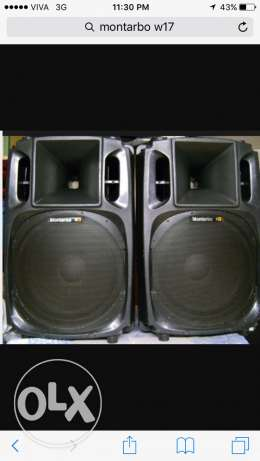 Montarbo W17 passive speakers made in Italy ( pair )