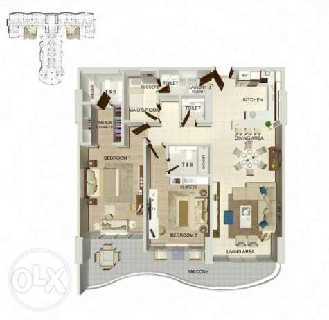 Lavish spacious 2.5 bedroom apartment in Dilmunia المحرق‎ -  6